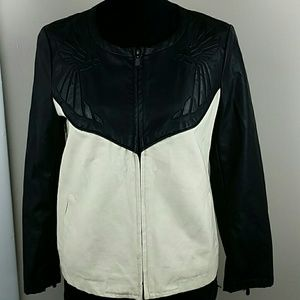 Zara Jackets & Blazers - Zara Trafaluc Vegan Black Leather Bird Bomber L
