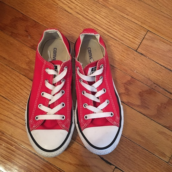 70742085c6e Converse Shoes - Red Converse (Size 3 in Big Girls) SEE DETAILS