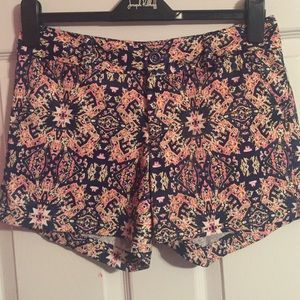 Jade Navy and Pink Printed Shorts
