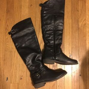 Faux leather diba girl riding boots