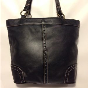 Hillard & Hanson Handbags - Hillard and Hanson black leather handbag