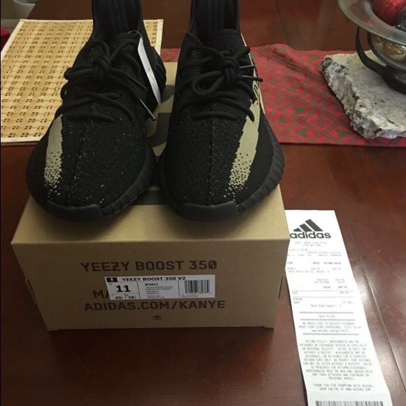 Adidas Yeezy Boost 350 V 2 (Black / Green) BY 9611