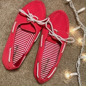 Sperry Shoes - NWOT Preppy Coral Boat Shoes