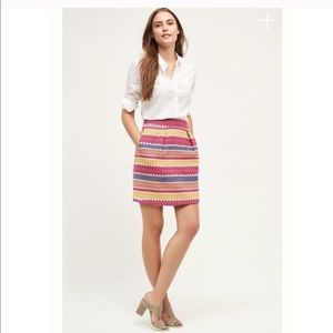 New Anthropologie Jacquard Mini Skirt