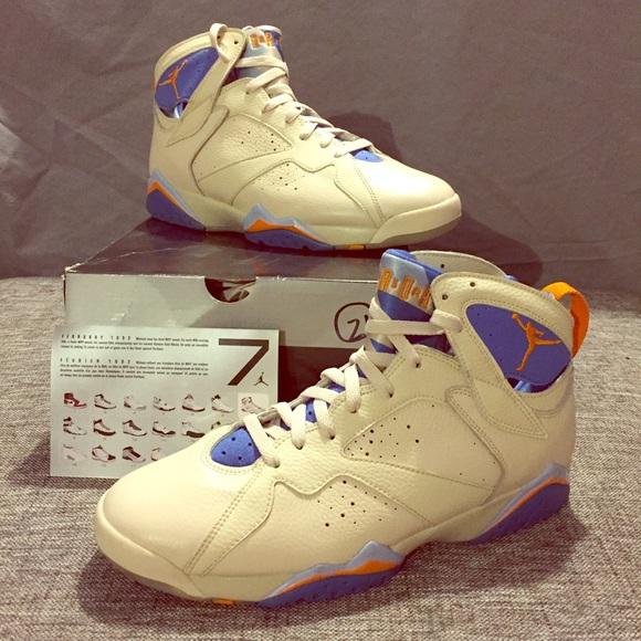 reputable site 6f034 ed738 Nike Air Jordan IIV 7 - Pacific Blue - Cream