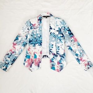 Mossimo Supply Co. Jackets & Coats - Blue Floral Blazer
