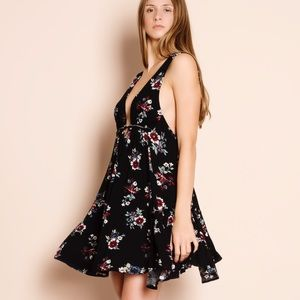 Kiss & Tell Floral Print Mini Dress