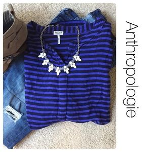 Anthropologie Tops - Anthropologie Spendid Brand hi-lo striped top xs