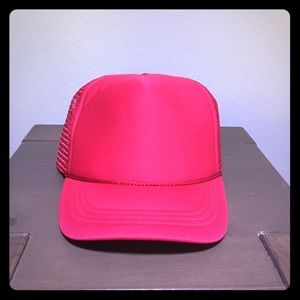 Other - Plain Trucker Hat Red OS