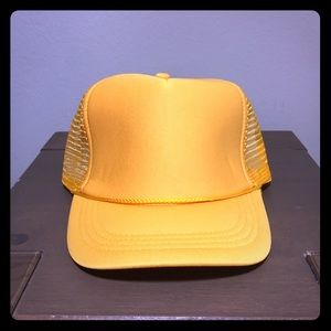 Other - Plain Trucker Hat Yellow OS
