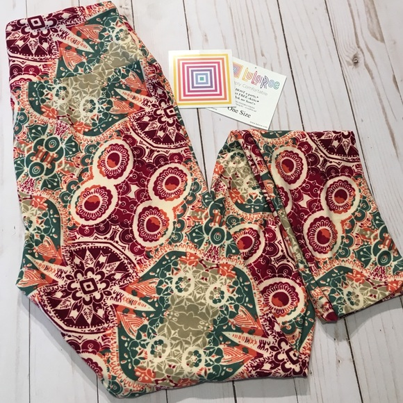 9ce6cc9958ce2 LuLaRoe Pants | New Os One Size Leggings Hidden Owl Mosaic | Poshmark