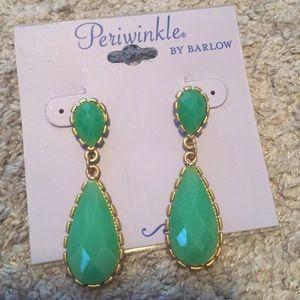 Fun green teardrop earrings