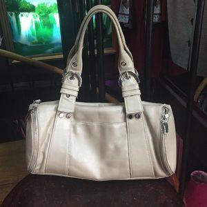 Perlina Handbags - Perlina ivory satchel bag leather