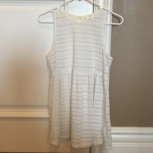 Urban Outfitters: White Polka Dot Cut-Out Tunic