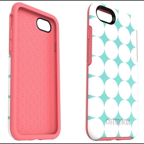 online retailer ae5bc d9ff3 OtterBox iPhone 7 Symmetry Case - Blue/Pink NWT