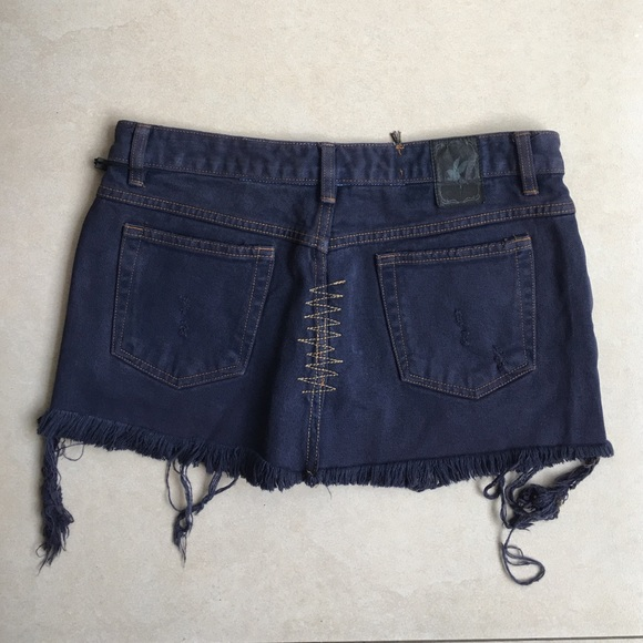 One Teaspoon - One Teaspoon Denim Mini Skirt size 10 from ...