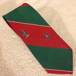Wembley Other - Wembley Red & Green Christmas Stripe Tie