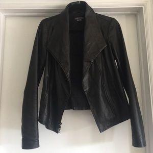 Black Vince Scuba Leather jacket