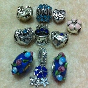 Jewelry - Crystal mom Happy birthday charm sets