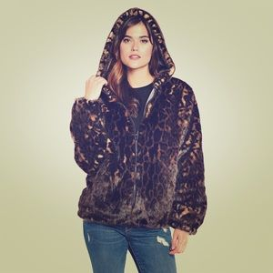 Fabulous Furs Jackets & Blazers - Best quality fake fur leopard print parka hoodie