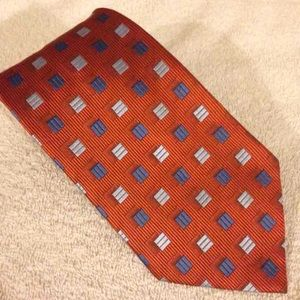 George Sherman NEW Orange Check Tie