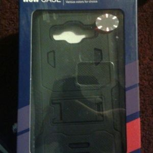 Wow Samsung Galaxy Grand Prime  Other - Safeguard w/kickstand Phone Case
