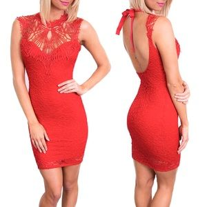 Dresses & Skirts - Caged Neckline Dress