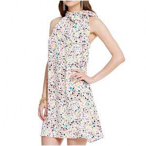 257a36c5d48 CeCe Dresses - CeCe CANDY GEMS PRINT TIE HALTER NECK DRESS
