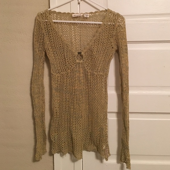 67fbdc7aa8 DKNY open knit tunic sweater with ring detail