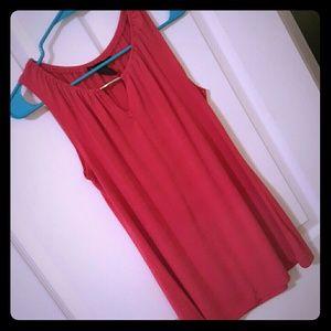 Flowy fuscia-red blouse
