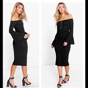 ASOS Dresses & Skirts - NWT Black Off Shoulder Dress Sz 4