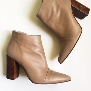 Zara Shoes - Zara Leather Pointy Tan Boots