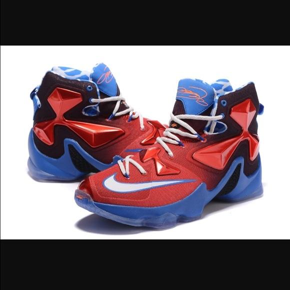 online retailer 39013 bdf75 🎄SHOE FEST🎉 NIKE Lebron XIII Kids Red/Blue Sz 4Y