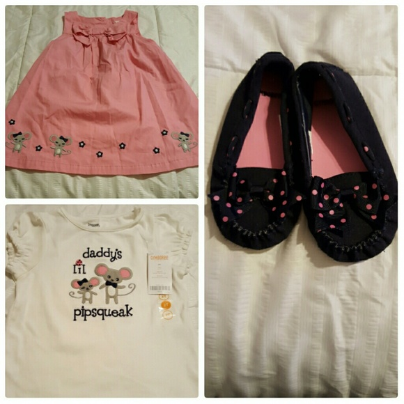 GYMBOREE MISS MOUSE Daddy/'s Lil Pipsqueak S//S TEE 6 12 18 24 2T 3T 4T 5T NWT