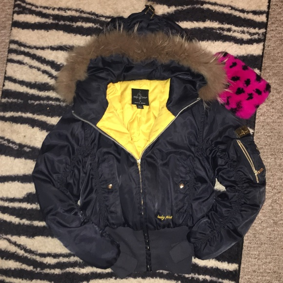 Baby Phat Jackets Amp Coats Fur Hooded Puffer Jacket