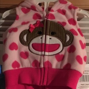 Baby Starters Other - NWT Baby Starters 2 pc Pink Heart Monkey Set 3 Mo.