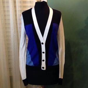 Peter Pilotto Target Mesh Knit Cardigan Sweater