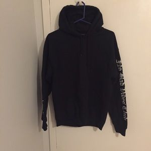 Yeezy Tops - No Bad Vibes Club Sleeves Text Hoodie Sz M