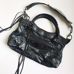 "Balenciaga Handbags - Balenciaga ""First"" Leather Shoulder Bag"