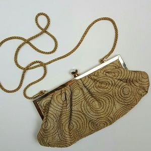 Kate Landry Handbags - KATE LANDRY Gold Evening Clutch Handbag