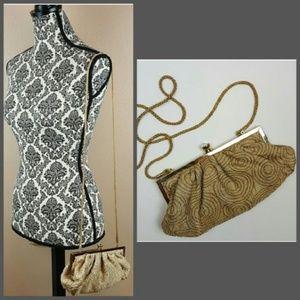 🌟 Kate Landry Gold Evening Clutch Handbag