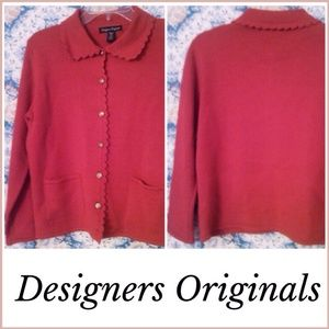 ❄️ DESIGNERS ORIGINALS RED CARDIGAN