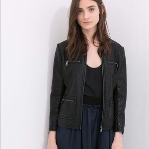 Zara Quilted Faux Leather Jacket