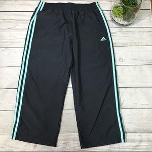 ✂️ Adidas Capri Windbreaker Pants Jogging Athletic