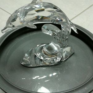 Beautiful Swarovski crystal dolphin figurine