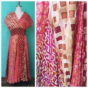 Geometric Tribal Print  Maxi Dress
