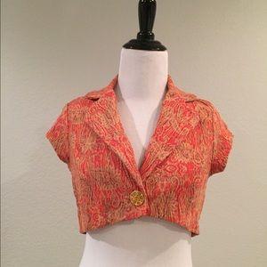 Vintage inspired crop blazer
