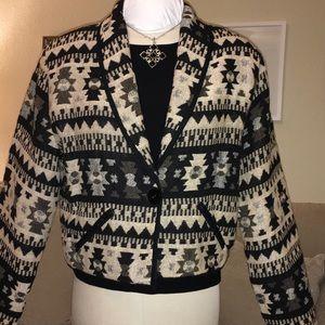 VINTAGE Southwestern Print Cotton Jacket