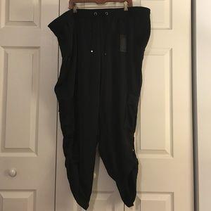 Lane Bryant Lane Collection Satin Cargo Pants