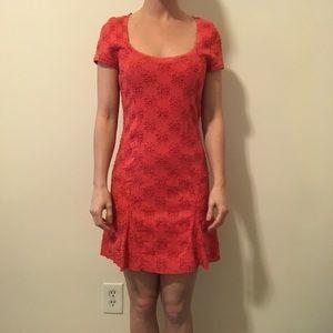 Free People Dresses & Skirts - FREE PEOPLE Orange Flower Needlepoint Dress